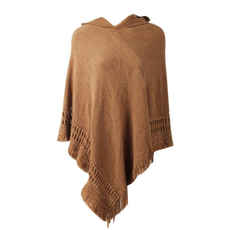 Autumn Shawl Scarf Sweater Fashion Design Women Ladies Tassel Coat Fringe Irregularity Winter Warm Coat Pullove Sweater New