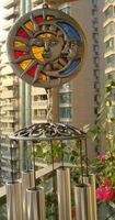 Металлические стеклянные солнечные лица расслабляющие колокольчики для ветра звуковая Часовня церковь настроенные колокольчики ветряные