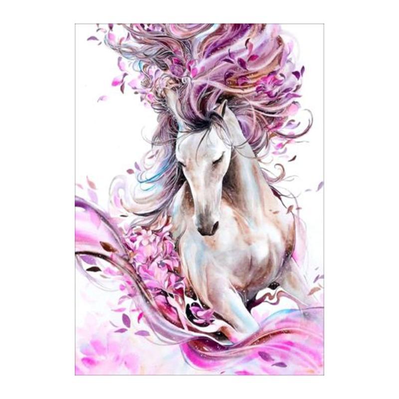 Colorful Horse Diamond Painting Cross Stitch Rhinestone Crystal 5D Diamond Embroidery Full Diamond Craft Decorative