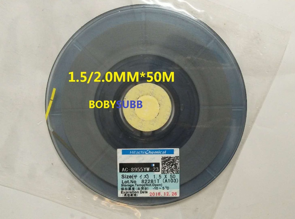 Original ACF AC-8955YW-23 COG Repair TAPE 1.5/2.0mm*50m New Date patricia