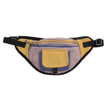 12PCS / LOT Fashion Patchwork Waist Pack Men Women Crossbody Chest Bag Nylon Belt