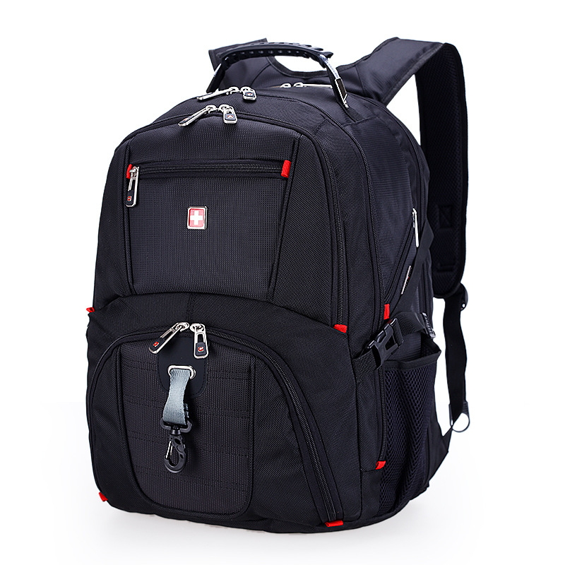 Suissewin Man male backpack Swiss 17 inch Backpack sw8112 8810 sac a dos Waterproof Multi function gear Business Laptop Mochila swisswin black business backpack male swiss military 15 6 computer bag mochila masculino orthopedic backpack sac a dos sw6007v