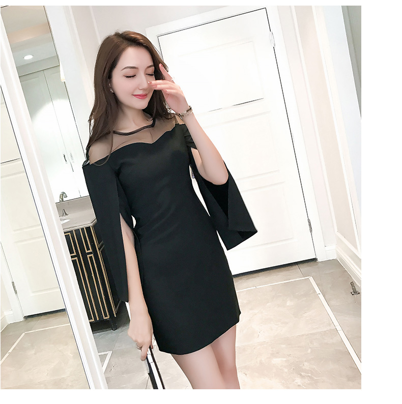 Sexy Off The Shoulder Tops Autumn New Spring Fashion Long Sleeve Women dress Casual flare sleeve Shirts Solid Color 663F3 in Dresses from Women 39 s Clothing