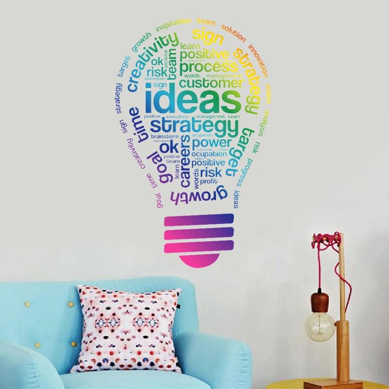 Kreative Ideen Wandaufkleber Bunte Birne Muster Home Decor Unternehmen Team  Aufkleber Kinder Schlafzimmer Arbeitszimmer Arbeit Dekoration In Kreative  Ideen ...