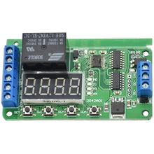 цена на Dc12V Dpdt Relay Cycle Timer Module Delay Time Polarity Audio Motor Switching