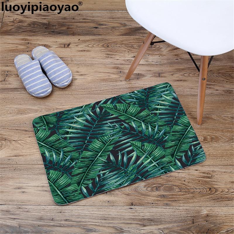 Творческий Спальня коврик 3D принт зеленый завод серии коврик для ванной душ коврик для душа Бесплатная доставка w3-00202100