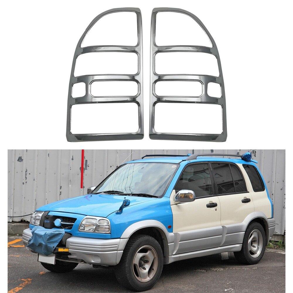 Для Suzuki Vitara Grande Escudo 2,0 1998 2005 ABS хромированные аксессуары, покрытие на задний светильник, накладка на задний светильник
