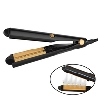 Professional Hair Straightener Flat Iron Ceramic Steam Vapor Spray LED Fast Heating Up Moisturizing Straightener Plate