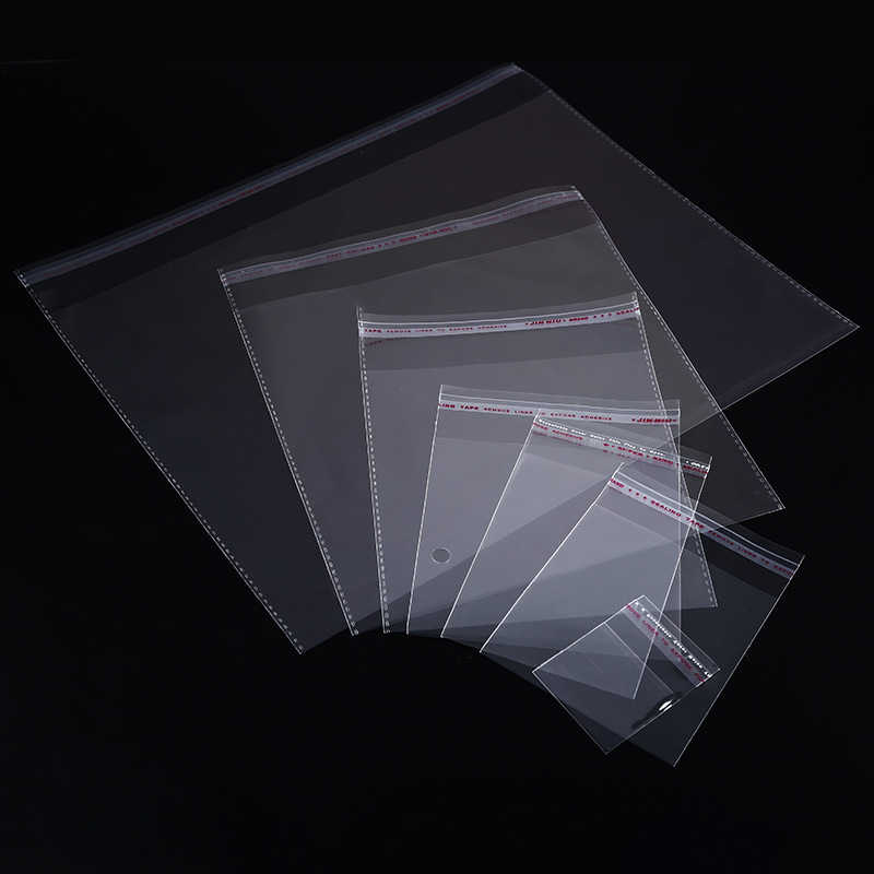 200pcs 4 Sizes Transparent Self Adhesive Sealed Opp Plastic Pouch Sachet Gift Bag For Jewelry Wedding Party Beads Packing Supply(China)