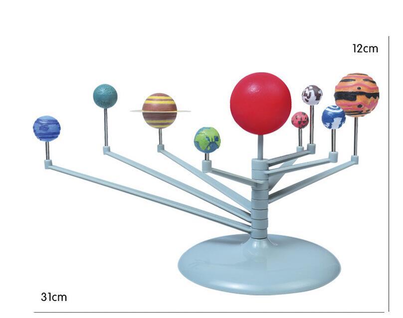 Children Creative Funny Popular 3D Plastic Planets Science Solar System Model Assembling Toys Education Toys
