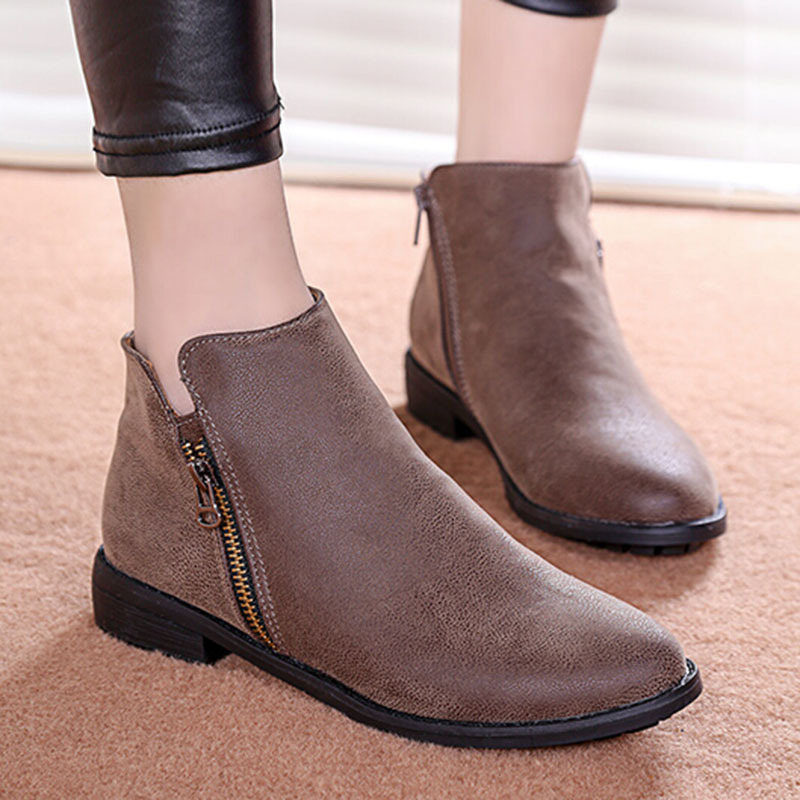 black ankle boots women