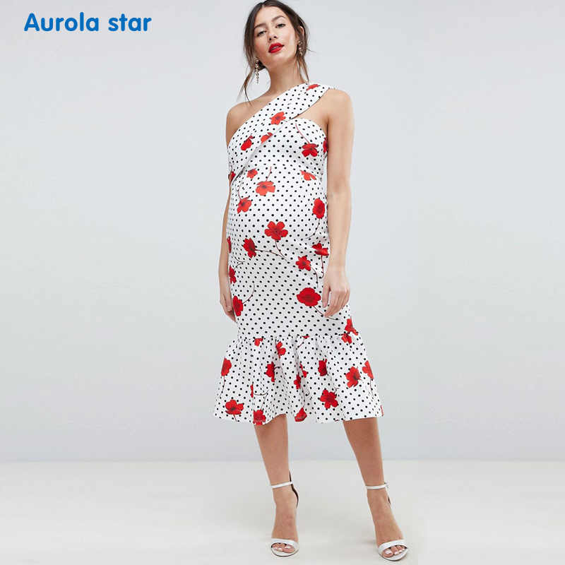 9e9a993e51331 ... Photo shoot Dress Summer Maternity One-shoulder Dress For Pregnancy  Women Clothes Baby shower Party ...