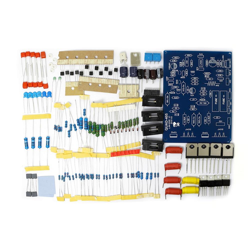 2 предмета Quad 405 100 Вт + 100 Вт двухканальный Мощность цифровой аудио Усилители Домашние DIY Kit звук Усилители домашние доска для Колонки