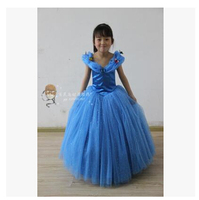 New Movie Cinderella Princess Dress Gorgeous Costume Cosplay Halloween Costumes For Kid Can Be Custom Made