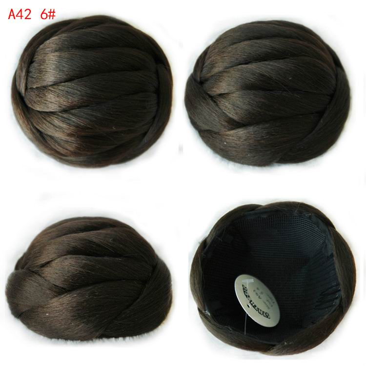 Womens Lady Heat resistant Chignons Fashion Bun Hairpiece Heat Resistant Knot Bob Synthetic Chignons Buns Hairpieces A42