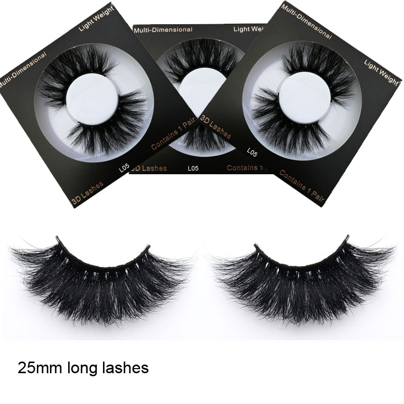Real mink 25mm lashes true mink eyelashes long lashes3d ...