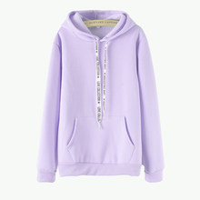 47db3693921 Women s solid color Harajuku casual tops double hat 2018 winter purple thick  loose ladies hooded sweatshirt women s clothing 3XL