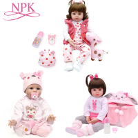 NPK Hot Style bebe Silicone Reborn Baby Dolls Adorable Lifelike Baby Dolls Bonecas Girl Surprice Doll Houses Toys Child Playmate