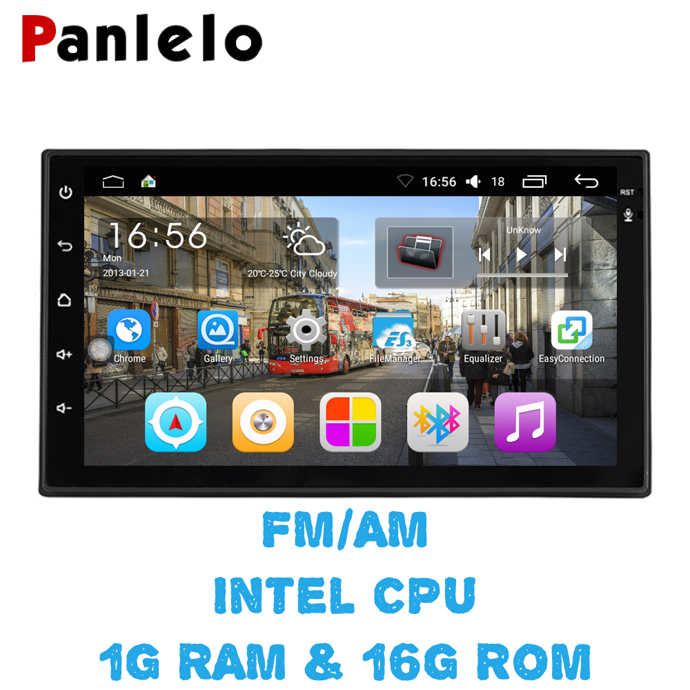 Panlelo S6 2 Din Android 6.0 Car Stereo 1080P 7 Inch Quad Core 2 din Head Unit GPS Navigation Audio Radio For Nissan Toyota panlelo 2 din android 6 0 car stereo 7 inch quad core head unit 1080p gps navigation audio radio built in wi fi bluetooth rds