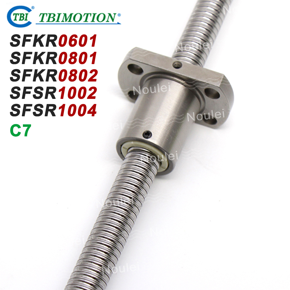 TBI C7 Miniature 6mm 8mm 10mm Ball Screws 0601 0801 0802 1002 1004 100mm 150mm 200mm