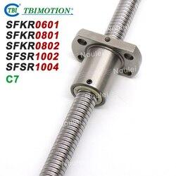 Śruba kulowa TBI C7 miniaturowe  6mm  8mm  10mm  śruby kulowe 0601 0801 0802 1002 1004 100mm 150mm 200mm z SFK śruba z nakrętką kulkową SFK0802 SFK1002 w Prowadnice liniowe od Majsterkowanie na