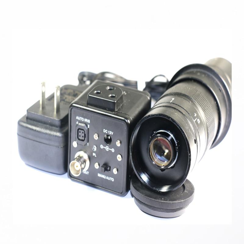 800TVL 1/3 Digital microscope Industrial Camera BNC Video Output Standard C Interface +130X OR 180X C-Mount lens