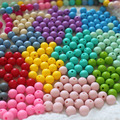 20PCS Chewable Silicone Beads Teething Bpa Free 12mm Round Bead  Necklaces Diy Baby Pacifier Chain Jewelry Components Beads