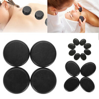 16Pcs/Box Hot Spa Black Basalt Circle Oval Shape Stone Essential Oil Volcanic Massage