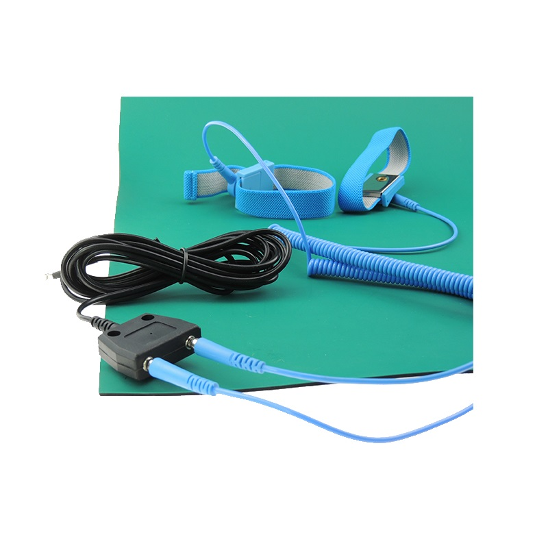 Practical Auto-alarm Anti-static Mat 400*300*2mm Antistatic Blanket Esd Mat For Repair Work+ground Wire+esd Wrist Strap Tester Power Tool Accessories