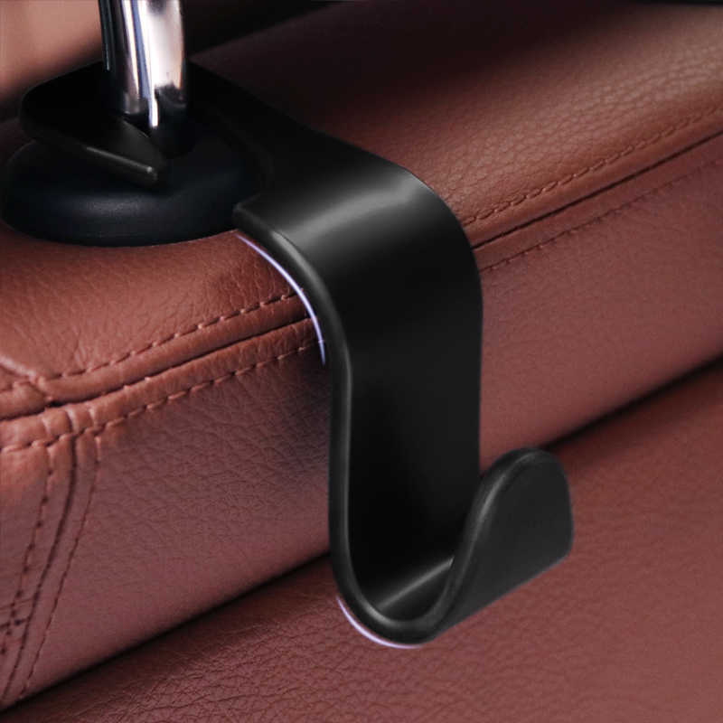 Clip Automotive Car Seat Hook Auto Headrest Hanger Bag Holder for Car Bag Purse Cloth Grocery Coat Storage Auto Fastener