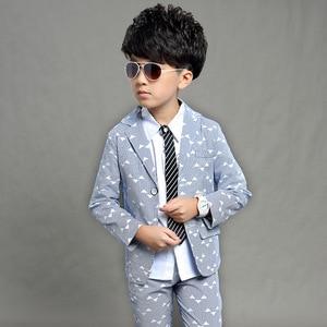 Image 5 - Gentleman anzug für junge Einreiher jungen anzüge für hochzeiten kostüm enfant garcon mariage jungen jogging garcon blau grau