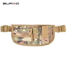 BURAQ Waterproof Belt Bag Nylon Mobile Phone Wallet Travel Sport Waist Pack Portable Outdoor Military Tactical Belt Waist Bag