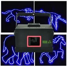 A13-B1000 Freeboss 1 W 20 K ILDA DMX Animación Azul Luz Láser de Control de Sonido