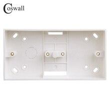 Coswall внешняя Монтажная коробка 172 мм* 86 мм* 33 мм для 86 типа двойных выключателей или розеток применяется для любого положения поверхности стены