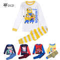 NEW cartoon kids pajama sets,kids Minions pajamas sleepwear boys girls nightwear pajamas toddler baby pyjamas pijama minions