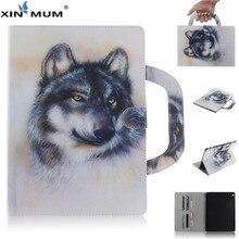 XIN-MUM Handheld Print TPU + PU Leather Flip Stand Magnet Cover Case For Huawei MediaPad M3 Lite 10 BAH-W09 BAH-AL0 BAH-L09 9h hd tempered glass membrane for huawei mediapad m3 lite 10 10 1 bah w09 bah al00 bah l09 screen protector film