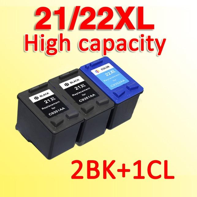 3 шт. 21xl 22xl чернильный картридж совместимый для for21 Совместимость for22 совместимый для 21 22 с чернилами hp DeskJet 3910 3915 3930 3930V 3940