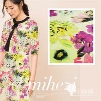 Customized 150cm Width Colourful Floral Flower Chiffon Satin Silk Cotton Gauze Cloth Fabric Shirt Coat Scarf