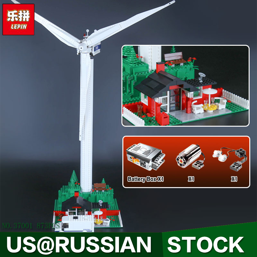 Lepin 37001 873Pcs Genuine Street Series Vestas Wind Turbine Children Building Blocks Bricks Toys Model Gifts lepin 37001 creative series the vestas windmill turbine set children educational building blocks bricks toys model for gift 4999
