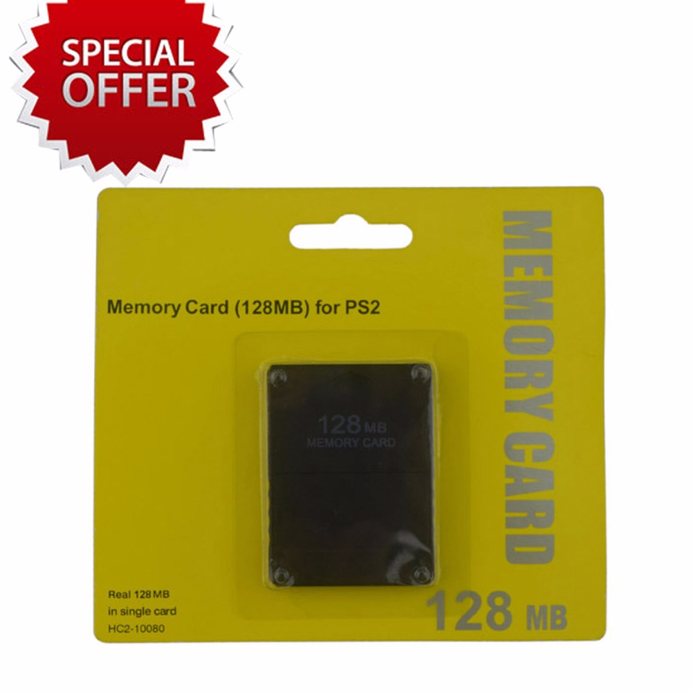 Tracked  128MB Memory Card for PS2 for Playstation 2 1pcs new free drop shipping card for ps2 for playstation 2 for ps 2 8mb 8m 8 mb memory brand new