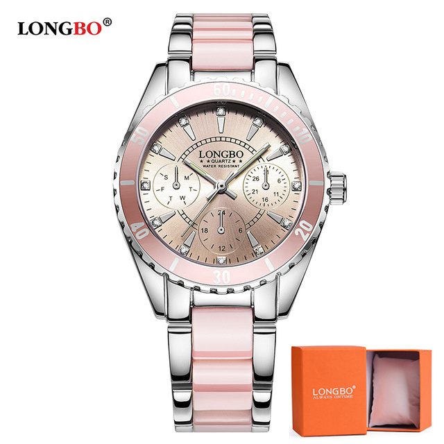 LONGBO Luxury Brand Fashion Women Watch Ladies Quartz Watches Lady Wrist Watch Relogio Feminino Analog Clock Reloj Mujer 80303 longbo luxury brand fashion quartz watch blue leather strap women wrist watches famous female hodinky clock reloj mujer gift