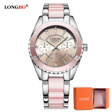 LONGBO Luxury Brand Fashion Women Watch Ladies Quartz Watches Lady Wrist Watch Relogio Feminino Analog Clock Reloj Mujer 80303 vogue flower printed women ladies watches quartz retro leather band female clock analog wrist watch relogio feminino reloj
