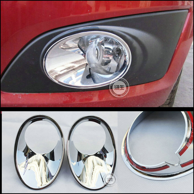 Car-styling ABS chromed trim front fog lamp cover car accessories for Chevrolet Aveo 2011 2012 2013 2014 2pcs chrome mesh grille grilles cover trim near front fog light lamp for vw volkswagon touareg 2011 2012 2013 2014