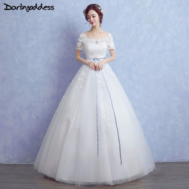 Darlingoddess Vintage Lace Wedding Dresses Plus Size Ball Gown Cheap ...
