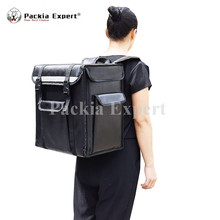 Factory High Quality Custom Insulated Freezer Food Delivery Bag with Hard Part Keep Food Cold and Hot for Scooter