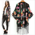 New Hot  Women's Floral Printed Cover Up Cardigan Shirt Tops Short Sleeve Clothing