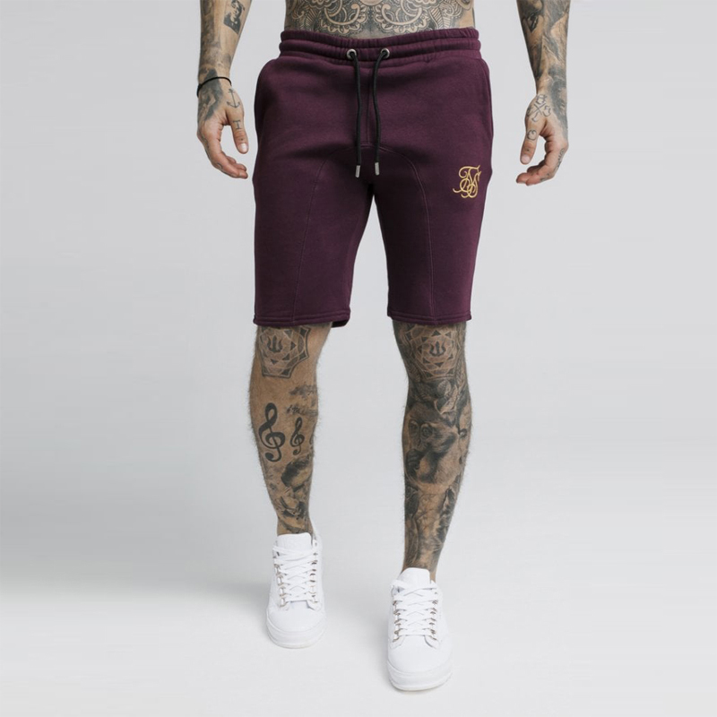 summer   shorts   Sik Silk embroidery Fitness Bodybuilding Casual Joggers Workout Brand Sporting   Short   Pants Sweatpants Sportswear