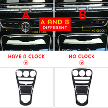 ABS Carbon Fiber Color Console Gear Panel Frame Cover Trim Stickers Parts for Mercedes Benz C class W205 15-17 / GLC X253 16-17 недорого