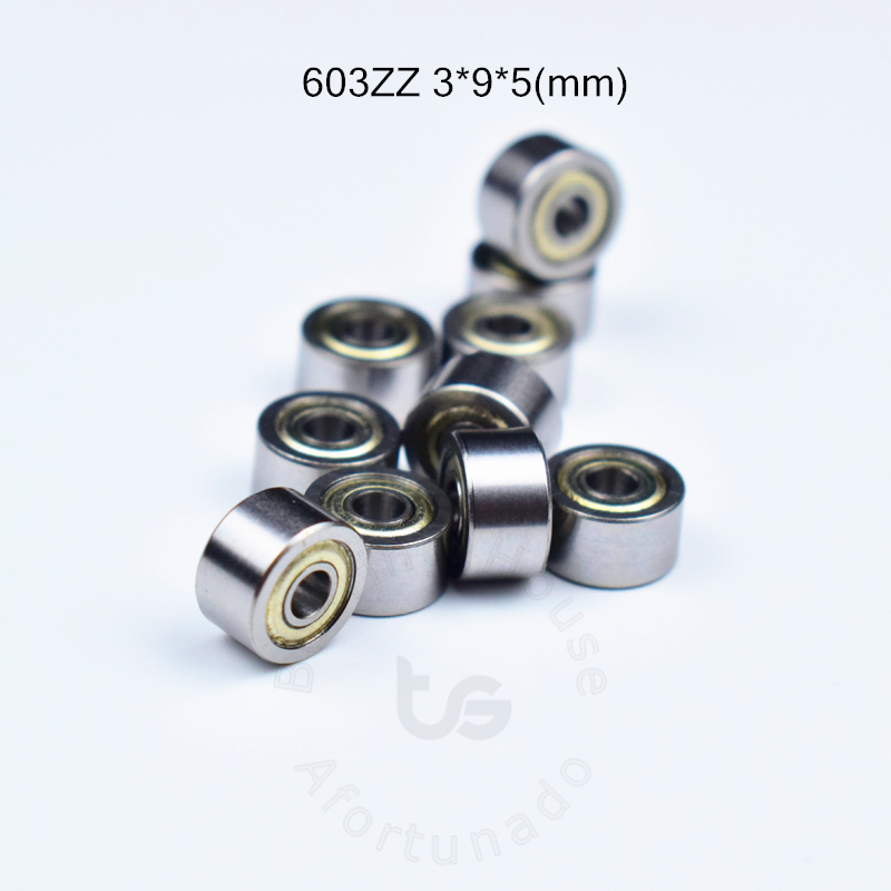603 603ZZ 10pieces  Bearing 3*9*5(mm) Free Shipping ABEC-5  Metal Sealed Bearing Chrome Steel Bearing 603 603Z 603ZZ Bearings