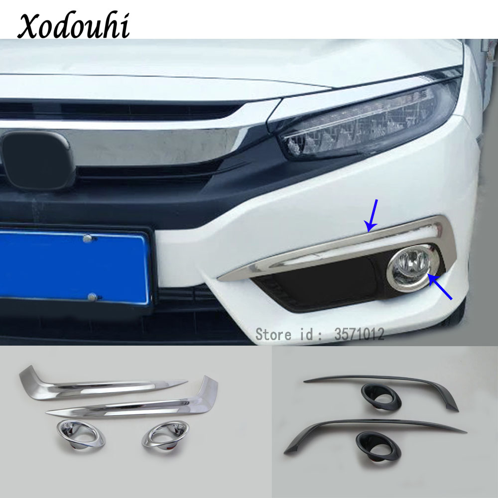 Car body head front fog Eyebrow trim light font b lamp b font frame stick ABS